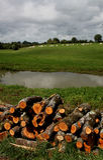 Sur le canal du Nivernais, velo, en Bazois de Chatillon Image libre de droits