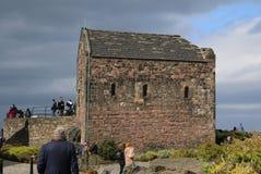 Sur le château d'Edimbourg photographie stock