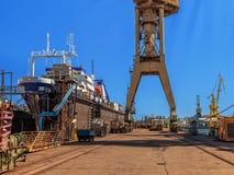 Sur le chantier naval Image libre de droits