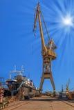 Sur le chantier naval Photos libres de droits