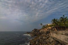 Sur le chemin ? la jet?e de vengurla, Vengurla, Sindhudurga, maharashtra, Inde photographie stock libre de droits
