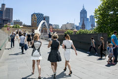 Sur le chemin à Melbourne Cup photos libres de droits