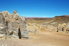 Sur le chemin à Salar de Tara, le Chili images stock