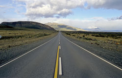 Sur le chemin au glacier Perito Moreno Photos stock