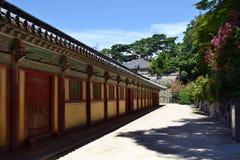 Sur le chemin au temple de Bulguksa dans Gyeongju La PIC était Augu rentré Photo stock