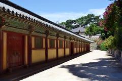 Sur le chemin au temple de Bulguksa dans Gyeongju La PIC était Augu rentré Photo libre de droits