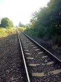 Sur le chemin de fer 2 photos libres de droits