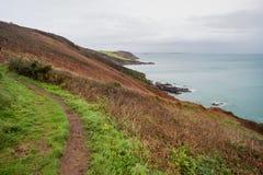 Sur le chemin les Cornouailles Angleterre R-U de côte Photo libre de droits