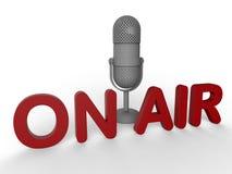 Sur le concept de microphone d'air Photo libre de droits
