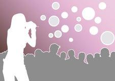 Sur le concert illustration libre de droits