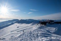 Sur le dessus, Chopok - la montagne troisièmement la plus haute de bas Tatras, Jasna, images stock