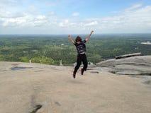 Sur le dessus de la montagne Photographie stock libre de droits