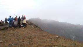 Sur le dessus de la montagne Images libres de droits