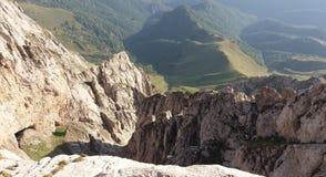 Sur le dessus de la montagne de Khustup Photos libres de droits