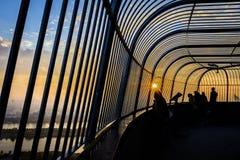 Sur le dessus de la tour Vienne de Danube image stock