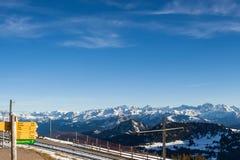 Sur le dessus de Mt. Rigi, la Suisse Photographie stock