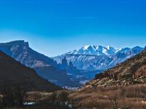Sur le fleuve Colorado vers Moab image stock