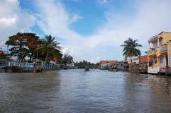 Sur le fleuve de Mekong Photo stock
