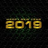 2019 sur le fond blanc, nouvelle année 2019, 3D illustration, bonne année 2019 illustration de vecteur