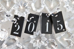2015 sur le fond brillant Image stock