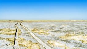 Sur le fond de la mer d'Aral Image stock