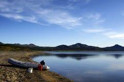 Sur le lac. Photographie stock