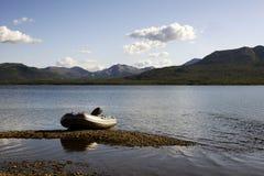 Sur le lac. Images stock