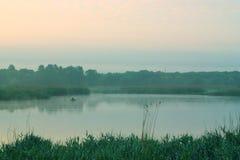 Sur le lac Images libres de droits