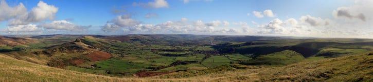 Sur le massif de roche de Mam, Derbyshire photos libres de droits