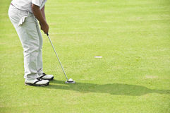 Sur le putting green. images stock