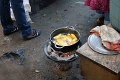 Sur le rivage de Wouri, Douala, Cameroun Photographie stock