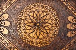 Sur le rnament de bois de construction Photos libres de droits