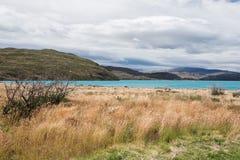 Sur le sentier de randonnée : Parc national de Torres del Paine au Chili Image stock