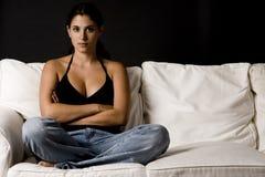 Sur le sofa 8 photographie stock libre de droits