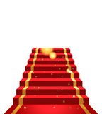 Sur le tapis rouge illustration stock