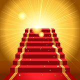 Sur le tapis rouge illustration libre de droits
