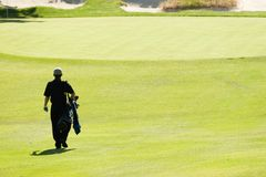 Sur le terrain de golf Photos libres de droits