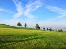 Sur le terrain de golf vide Images libres de droits