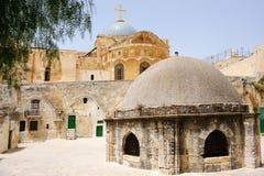 Sur le toit de l'église de la tombe sainte Photo stock