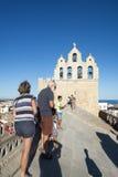Sur le toit de la cathédrale de Saintes-Maries-de-la-Mer, Frances Photos stock