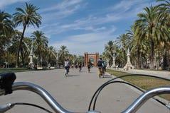 Sur le vélo Image libre de droits