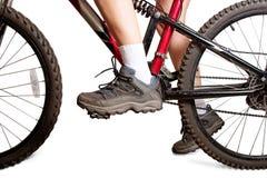 Sur le vélo de mtb Image stock