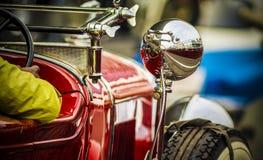 Sur le vintage 1929 convertible à quatre portes de phaéton de Cadillac de voie Photo libre de droits