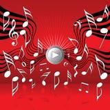 Sur les ailes de la musique illustration de vecteur