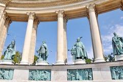 Sur les héros carrés à Budapest Image stock