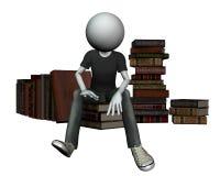 Sur les livres Image libre de droits