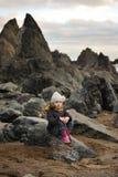 Sur les roches Images stock