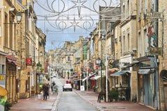Sur les rues de Bayeux. photographie stock