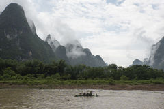 Sur Li River, Guilin Photos libres de droits