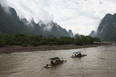 Sur Li River, Guilin Images libres de droits